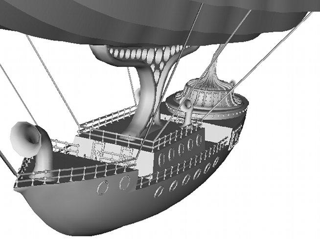 SteamAirshipModel Steampunk Airship 3D Model