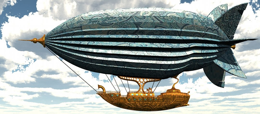 SteampunkAirship Steampunk Airship 3D Model