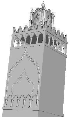 minaret1r 3D Model Minaret Under Construction